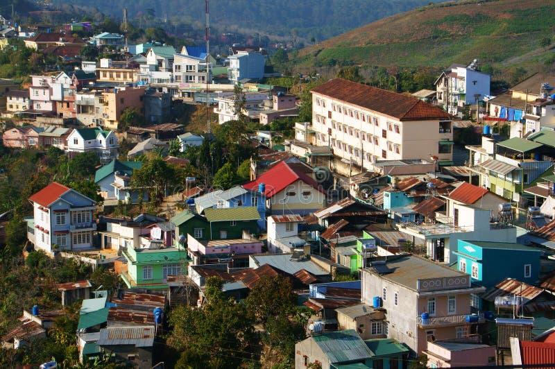 Wohnsitz, Dalat-Landschaft, Asien-Stadt lizenzfreie stockfotografie