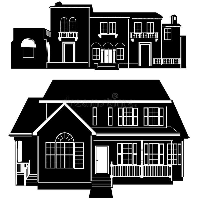 Wohnsitzgebäudevektor 5 lizenzfreie abbildung