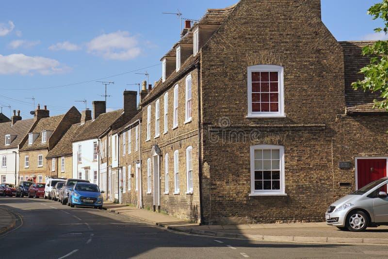 Wohnstraße in Ely, Cambridgeshire, England stockfotos