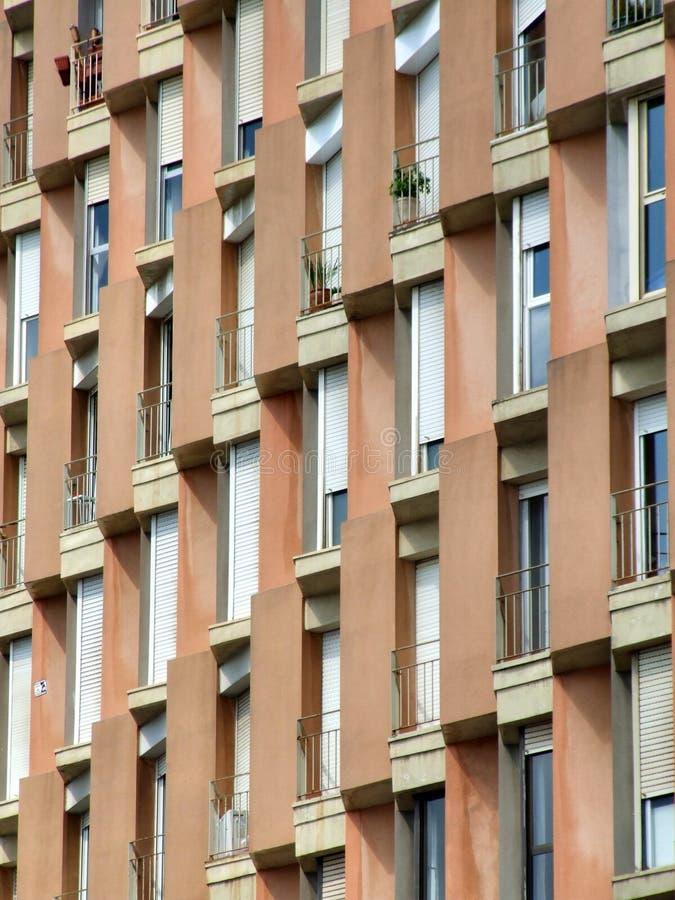 Wohnungen in Barcelona lizenzfreies stockfoto