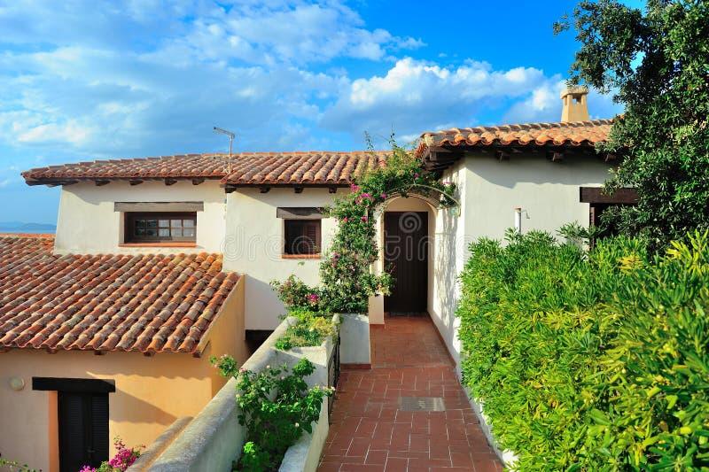 Wohnungen für Miete in Sardinien stockbilder