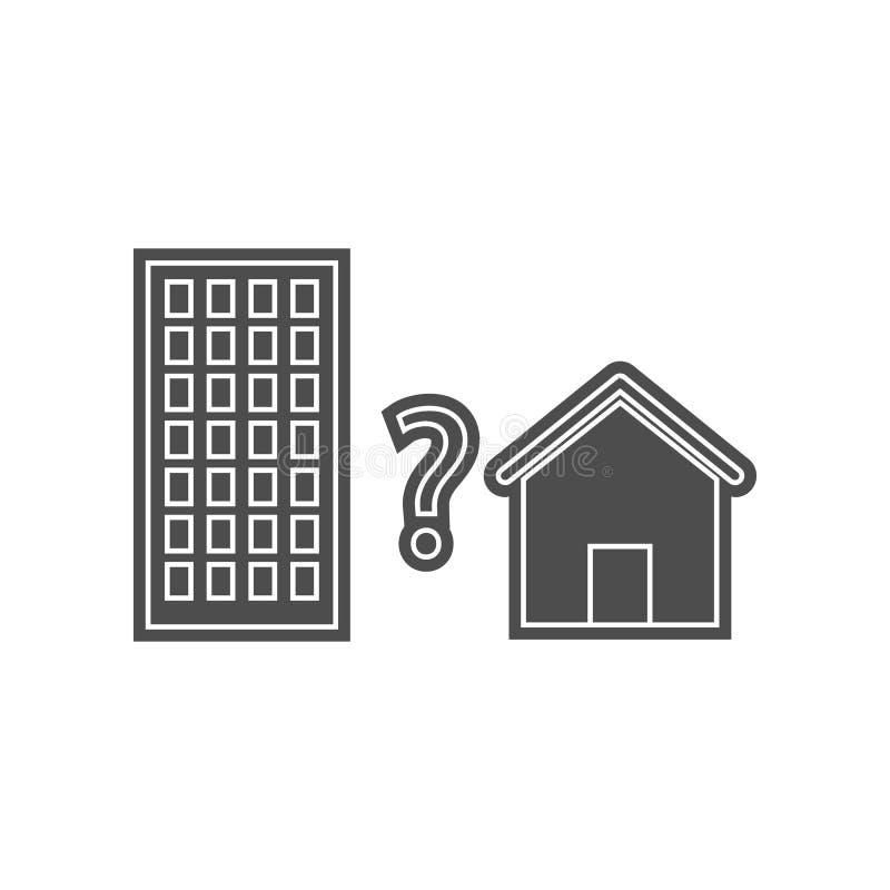 Wohnungen f?r Verkaufsikone Element von minimalistic f?r bewegliches Konzept und Netz Appsikone Glyph, flache Ikone f?r Websiteen stock abbildung