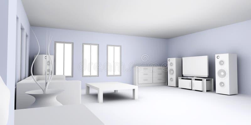 Wohnungs-Innenraum lizenzfreie abbildung