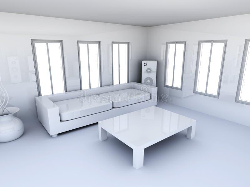 Wohnungs-Innenraum vektor abbildung