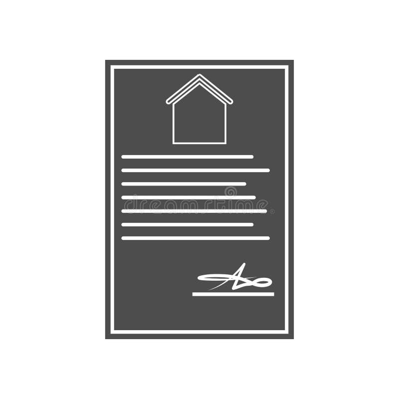 Wohnungs- oder Hausikone Element von minimalistic f?r bewegliches Konzept und Netz Appsikone Glyph, flache Ikone f?r Websiteentwu lizenzfreie abbildung