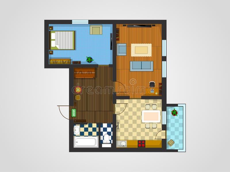 Wohnungs-Plan stock abbildung