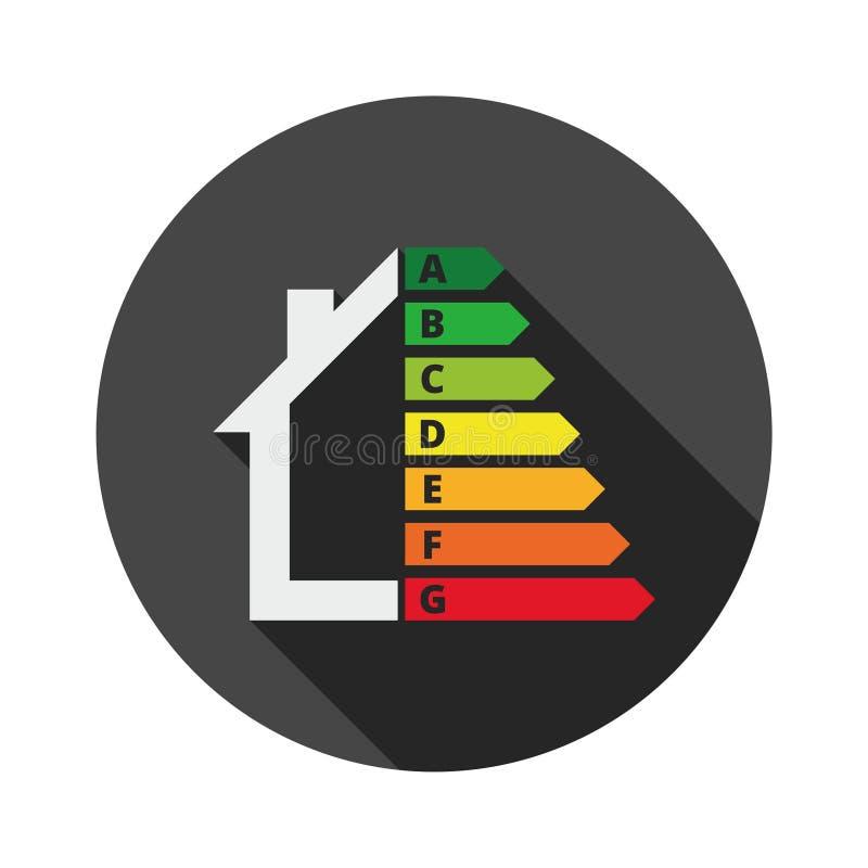 Wohnungsenergieeffizienz, Haus und Energieeffizienzkonzept vektor abbildung