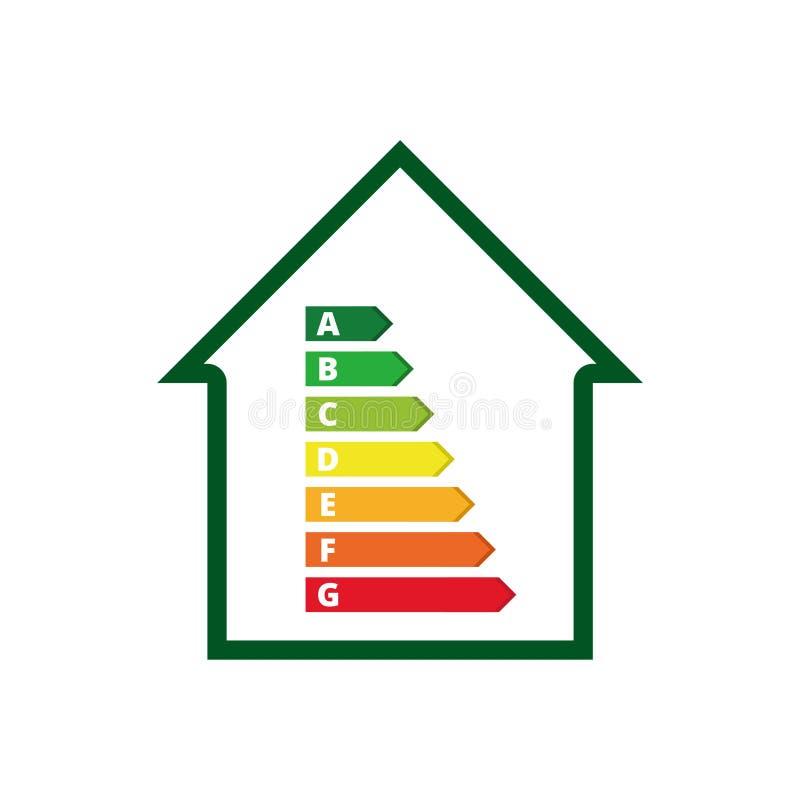 Wohnungsenergieeffizienz, Haus und Energieeffizienzkonzept stock abbildung