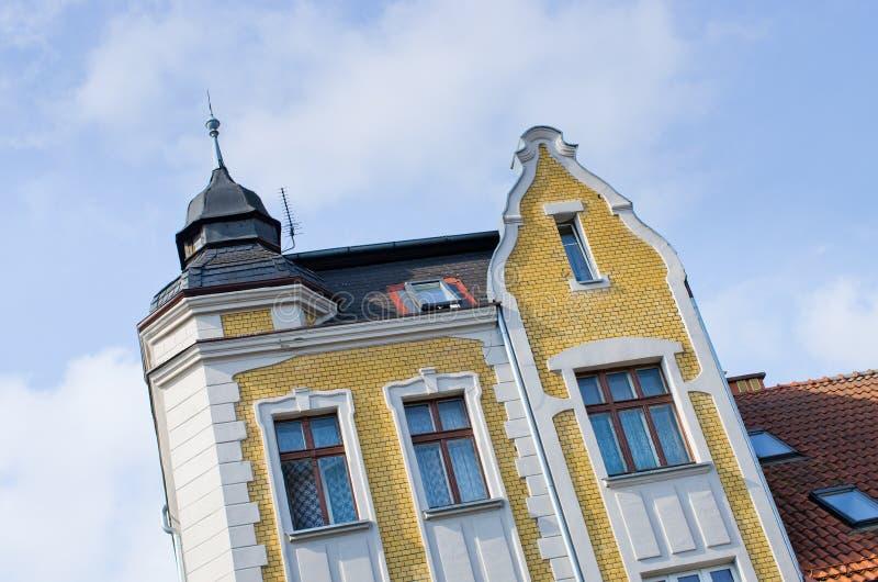 Wohnungshäuser in Mragowo, Polen lizenzfreies stockbild