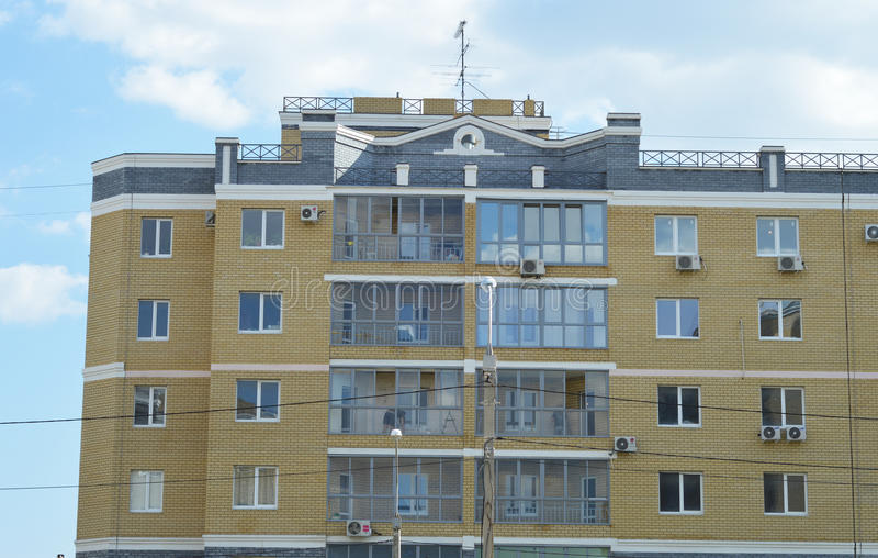 Wohnungshaus stockfoto