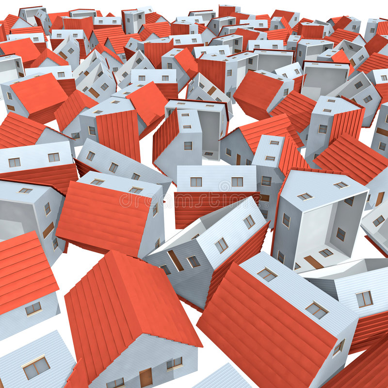 Wohnungsmarkteinsturz stock abbildung