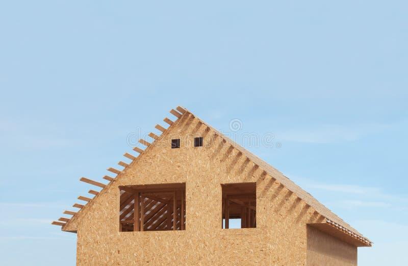 Wohnungsneubau, oberer Teil stockbilder