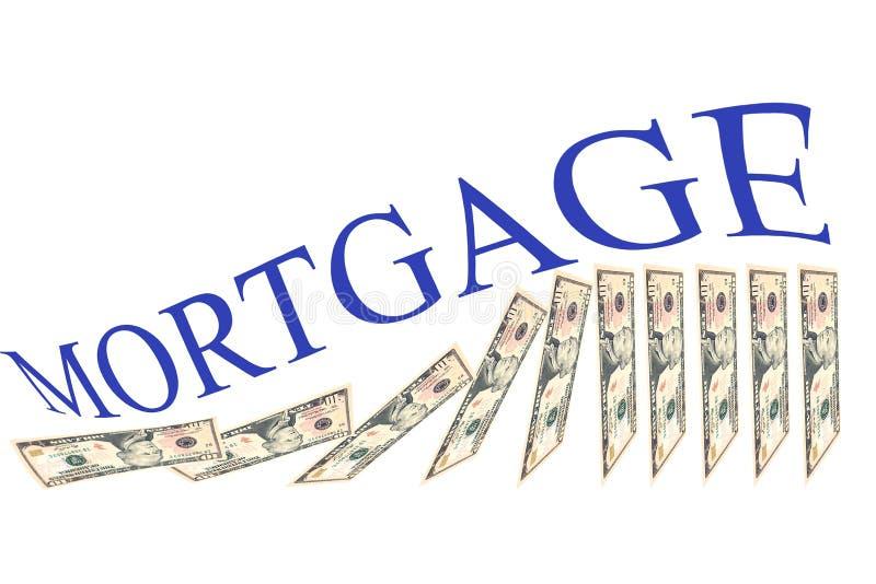 Wohnungspreissystemabsturz lizenzfreies stockfoto