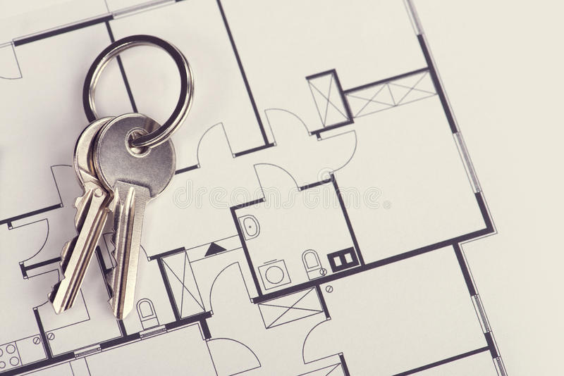 Wohnungsprojekt stockbilder