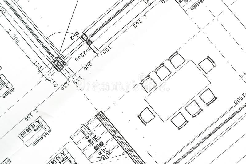 Wohnungsprojekt. lizenzfreie stockfotos