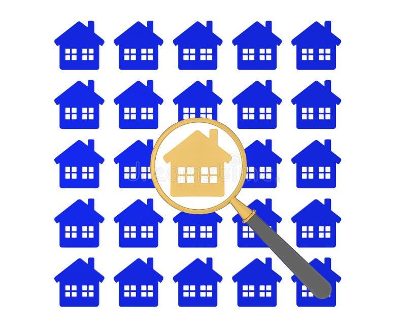 Wohnungssuche lizenzfreie abbildung