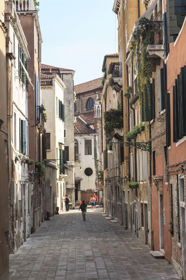 Wohnviertel in Venedig lizenzfreie stockbilder