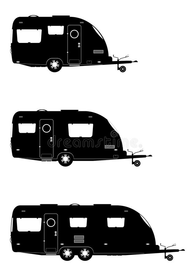 wohnwagen lizenzfreie abbildung