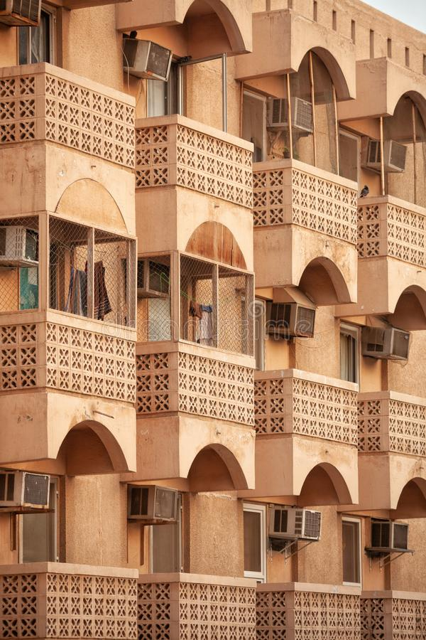 Wohnwohngebäude in Dubai lizenzfreies stockbild