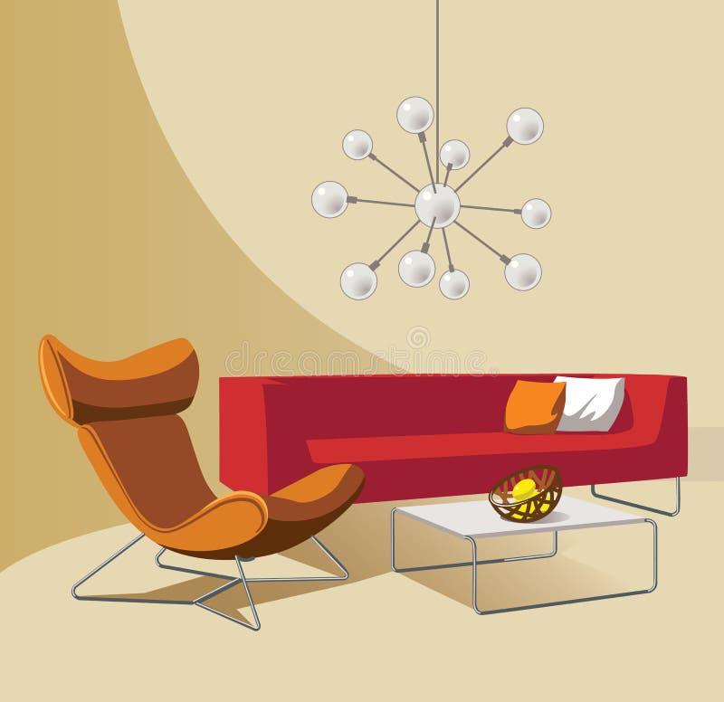 Wohnzimmer lizenzfreie abbildung