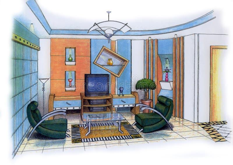Download Wohnzimmer Stock Abbildung Illustration Von Teppich Auslegung
