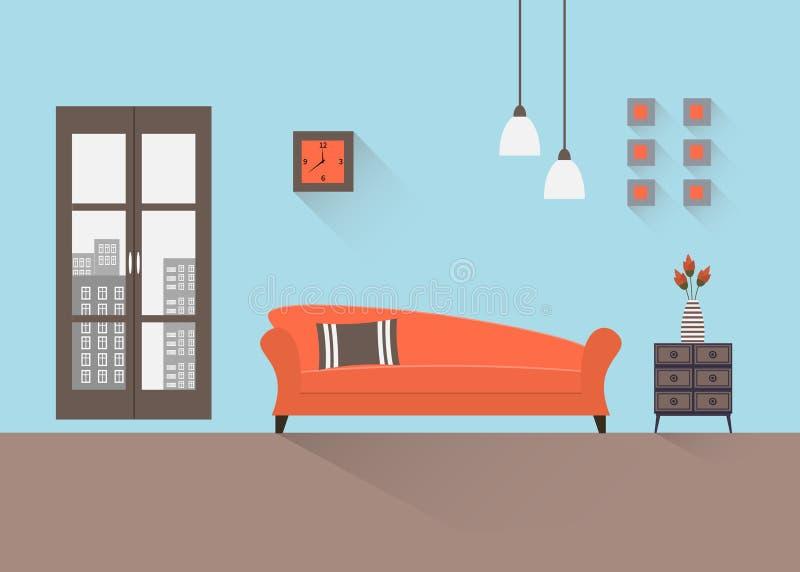 Wohnzimmer 13 lizenzfreie abbildung