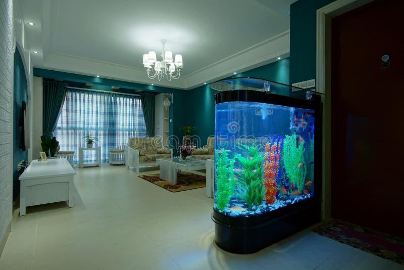 Wohnzimmer-Aquarium Stockbild. Bild Von Freizeit, Beleuchtung
