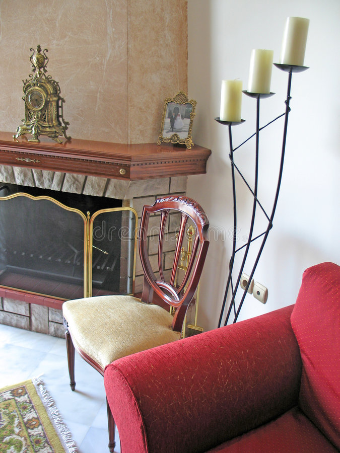 Wohnzimmer-Detail lizenzfreie stockfotos