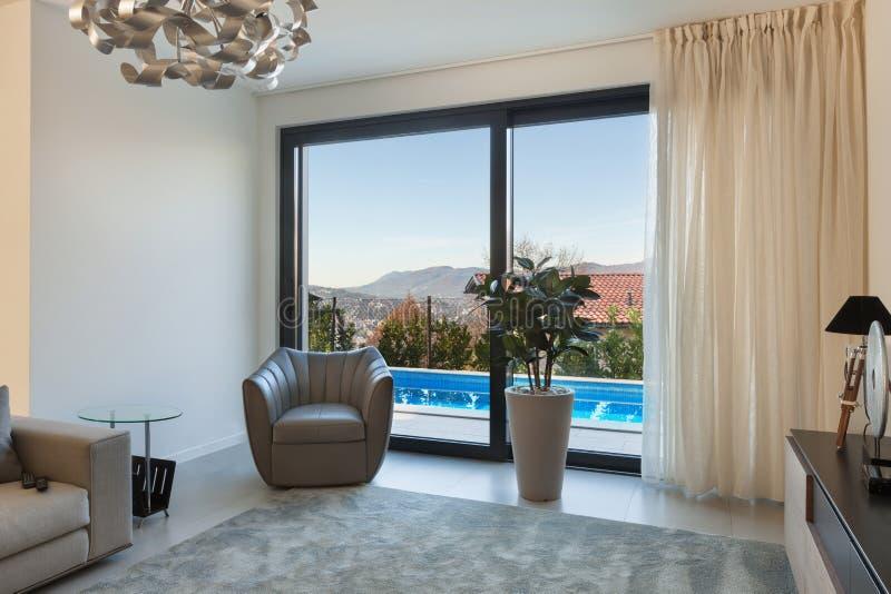 wohnzimmer fenster stockbild bild von innen wohnung 63537911. Black Bedroom Furniture Sets. Home Design Ideas