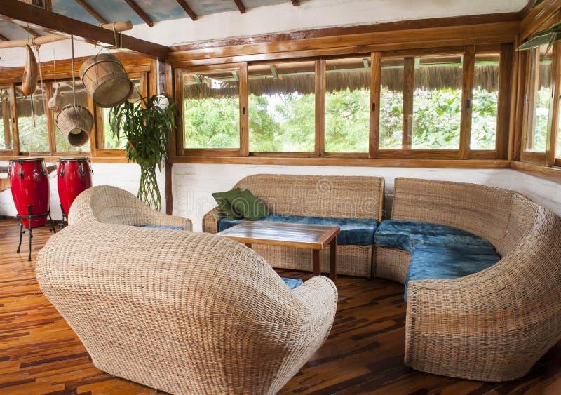 Wohnzimmer im Bambus stockbild. Bild von zustand, hölzern ...