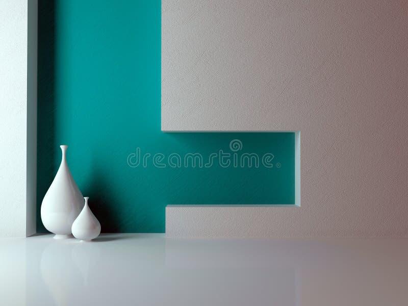Wohnzimmer. Innenarchitektur. stock abbildung