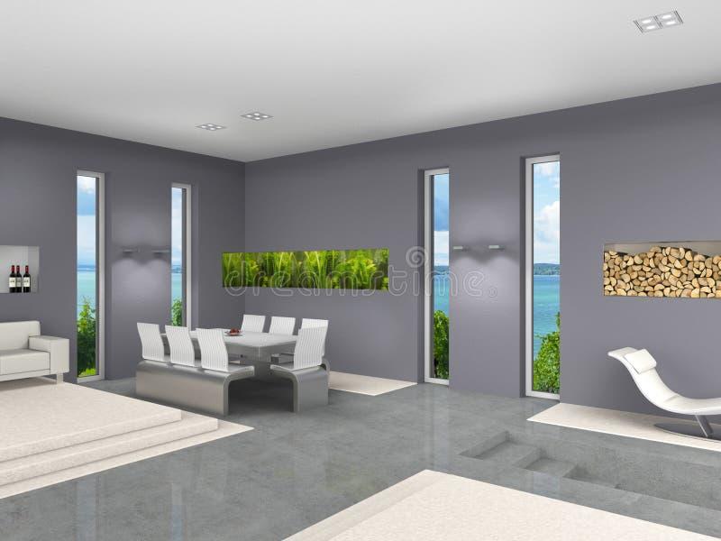 Wohnzimmer mit Aquarium stock abbildung. Illustration von real ...