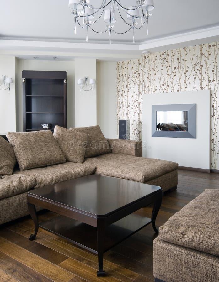 Wohnzimmerinnenraum lizenzfreies stockbild