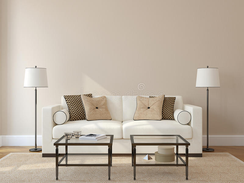 Wohnzimmerinnenraum. stock abbildung