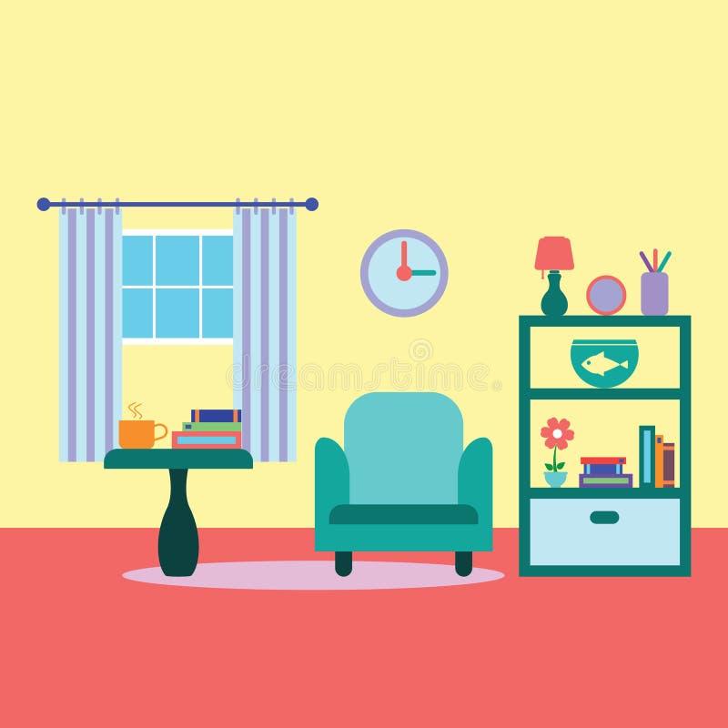 Wohnzimmervektorillustration lizenzfreie stockbilder