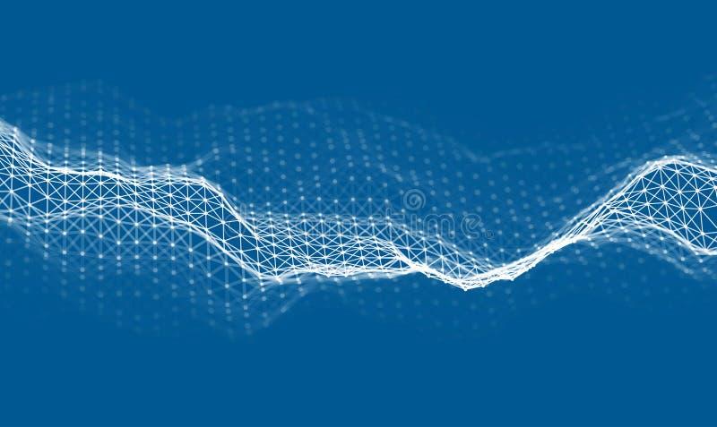 Woice agita vector del fondo EPS 10 Vector abstracto de la onda acústica Frecuencia del pulso de la voz de la mujer ilustración del vector