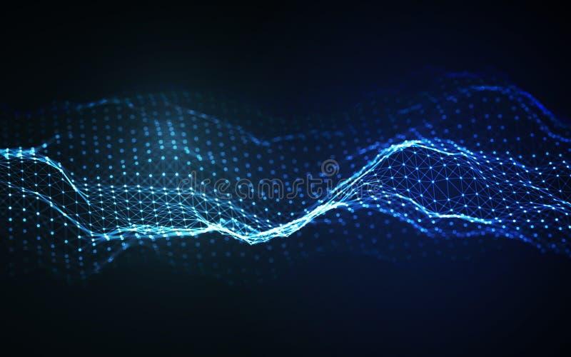 Woice agita vector del fondo EPS 10 Vector abstracto de la onda acústica Frecuencia del pulso de la voz de la mujer libre illustration