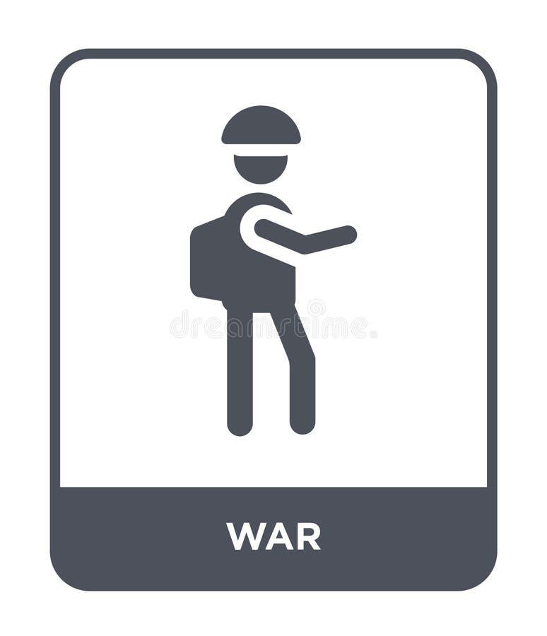 wojenna ikona w modnym projekta stylu wojenna ikona odizolowywająca na białym tle wojennej wektorowej ikony prosty i nowożytny pł ilustracja wektor