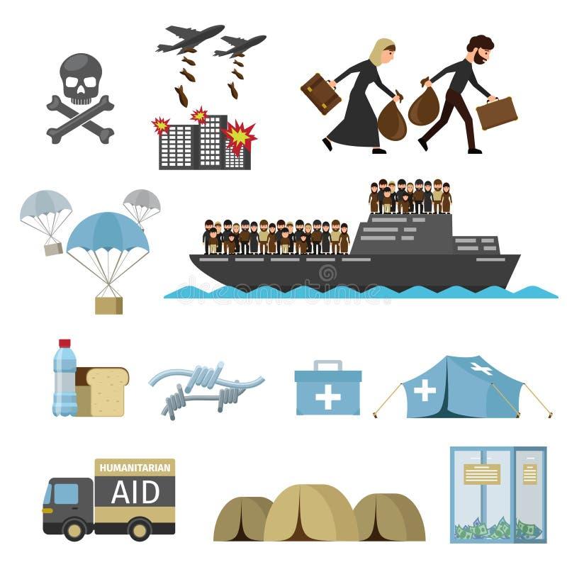 Wojenne ofiary uchodźcy royalty ilustracja