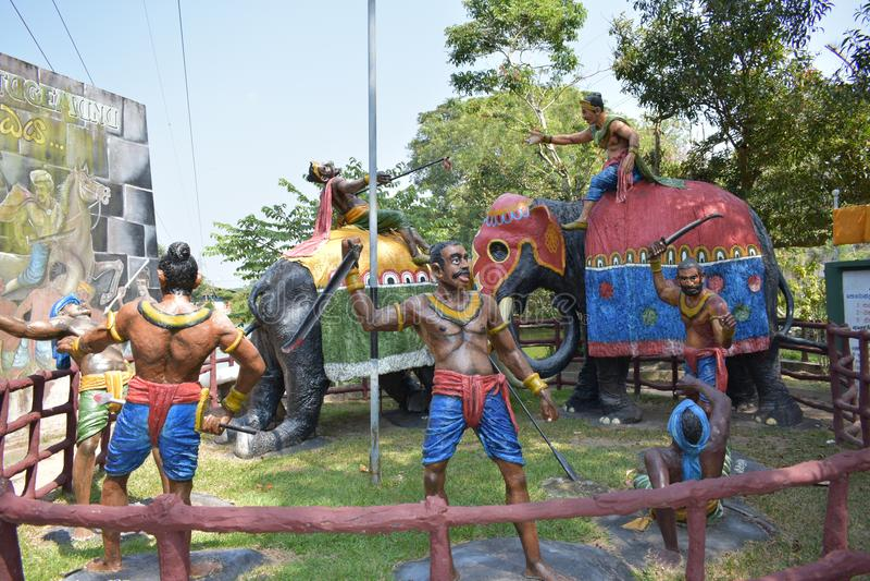 Wojenne statuy o lankijczyk kulturze zdjęcie stock