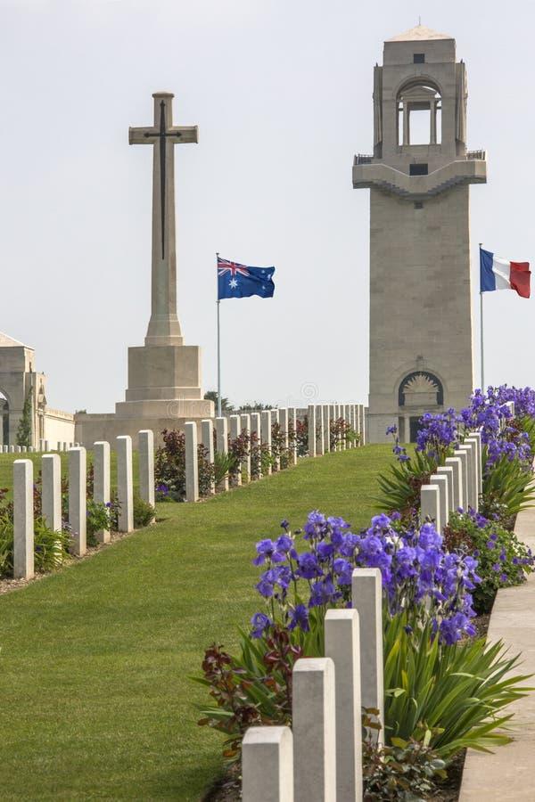 Wojenny Cmentarz Francja - Somme obraz royalty free
