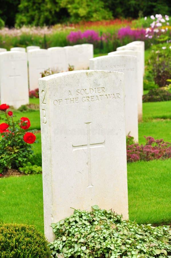 Wojenny cmentarz Somme, Francja - fotografia royalty free