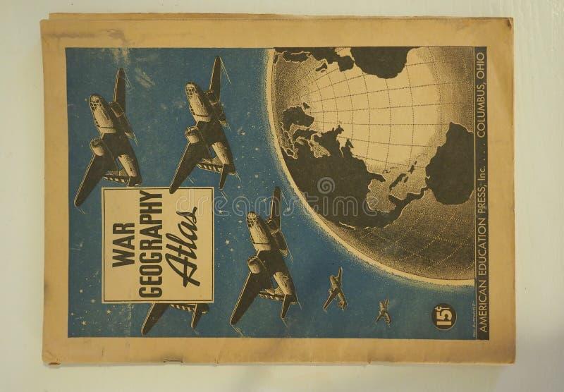 Wojenny geografia atlant od 1943 obrazy royalty free