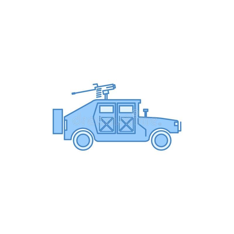 wojenny humvee wojskowy wypełniający zarysowywa ikonę Element przewieziona ikona dla mobilnych pojęcia i sieci apps Cienieje kres ilustracja wektor