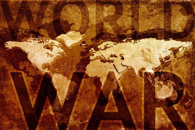 wojenny mapa świat royalty ilustracja