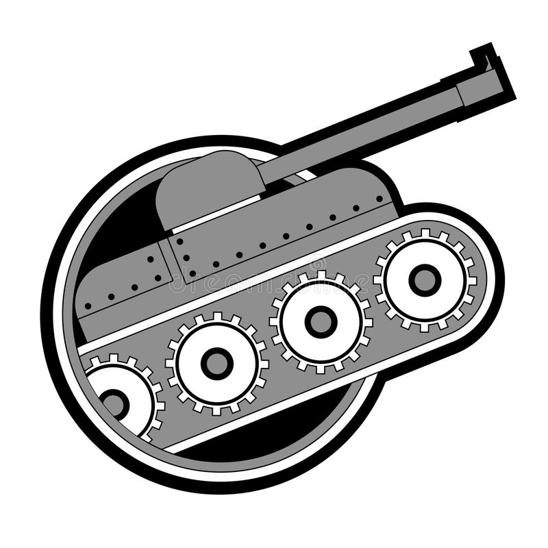 Download Wojenny zbiornik ilustracja wektor. Obraz złożonej z pocisk - 28097703