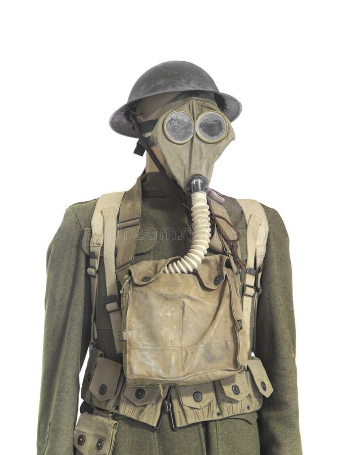 Wojna Światowa Jeden żołnierza jednolity odosobniony. fotografia stock