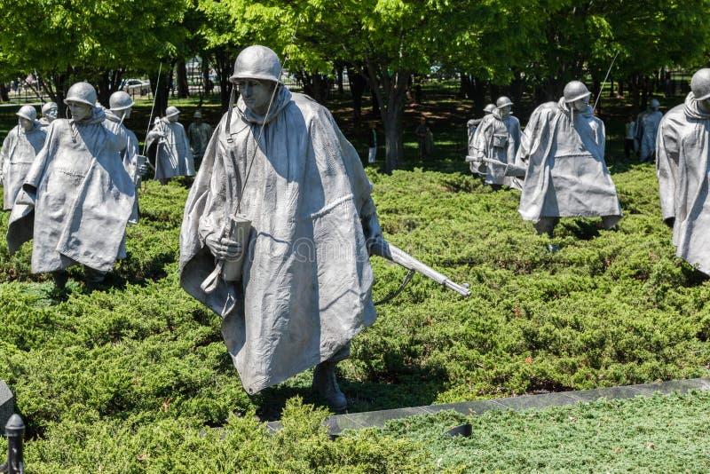 Wojna Koreańska weteranów pomnik Waszyngton zdjęcia royalty free