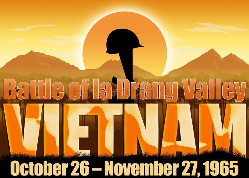 Wojna W Wietnamie, batalistyczna losu angeles Drang dolina ilustracji