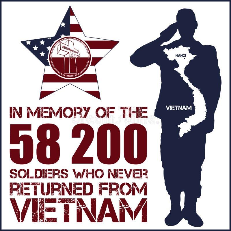 Wojna W Wietnamie dzień pamięci ilustracja wektor